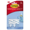 Command Clear Hooks & Strips, Plastic, Small, 2 Hooks & 4 Strips/Pack