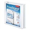"Cardinal FreeStand Easy Open Locking Slant-D Ring Binder, 1"" Cap, 11 x 8 1/2, White"
