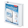 "Cardinal FreeStand Easy Open Locking Slant-D Ring Binder, 1 1/2"" Cap, 11 x 8 1/2, White"