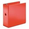 "Cardinal SuperStrength Locking Slant-D Ring Binder, 5"" Cap, 11 x 8 1/2, Red"