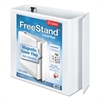 "FreeStand Easy Open Locking Slant-D Ring Binder, 4"" Cap, 11 x 8 1/2, White"