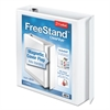 "Cardinal FreeStand Easy Open Locking Slant-D Ring Binder, 2"" Cap, 11 x 8 1/2, White"