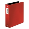 "Premier Easy Open Locking Round Ring Binder, 2"" Cap, 11 x 8 1/2, Red"
