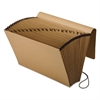 Kraft Indexed Expanding File, 21 Pockets, Kraft, Legal, Brown