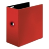 "Easy Open Locking Slant-D Ring Binder, 5"", Red"