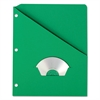 Pendaflex Essentials Essentials Slash Pocket Project Folders, 3 Holes, Letter, Green, 25/Pack