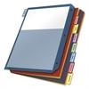 Cardinal Poly 2-Pocket Index Dividers, Letter, Multicolor, 8-Tabs/Set, 4 Sets/Pack