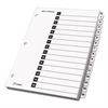 Cardinal Traditional OneStep Index System, 15-Tab, 1-15, Letter, White, 15/Set