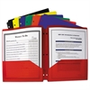 C-Line Two-Pocket Heavyweight Poly Portfolio Folder, 3-Hole Punch, Letter, Assorted