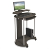 BALT Up-Rite Mobile Sit-Stand Workstation, 27 1/2 x 22 1/2 x 45 1/2, Smoked Sapelle