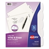 Avery Write-On Big Tab Plastic Dividers, 5-Tab, Letter