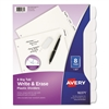 Avery Write-On Big Tab Plastic Dividers, 8-Tab, Letter