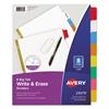 Write & Erase Big Tab Paper Dividers, 8-Tab, Letter
