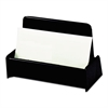 Universal Business Card Holder, Capacity 50 3 1/2 x 2 Cards, Black