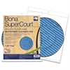 "SuperCourt Athletic Floorcare Microfiber Cleaning Pad, 20"" Dia, Light/Dark Blue"