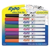 EXPO Low-Odor Dry-Erase Marker, Ultra Fine Point, Assorted, 8/Set
