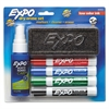 EXPO Low Odor Dry Erase Marker Starter Set, Chisel, Assorted, 4/Set