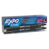 Click Dry Erase Markers, Fine Tip, Black, Dozen