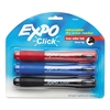 EXPO Click Dry Erase Markers, Chisel Tip, Assorted, 3/Set