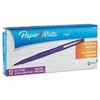 Point Guard Flair Needle Tip Stick Pen, Purple Ink, 0.7mm, Dozen