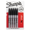 Sharpie Fine Point Permanent Marker, Black, 5/Pack