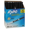 EXPO Low Odor Dry Erase Marker, Fine Point, Black, 36/Box
