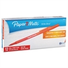 Paper Mate Write Bros Stick Ballpoint Pen, Red Ink, 1mm, Dozen