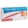 Paper Mate Point Guard Flair Needle Tip Stick Pen, Red Ink, 0.7mm, Dozen