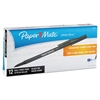 Paper Mate Write Bros Stick Ballpoint Pen, Black Ink, 0.8mm, Dozen