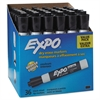 EXPO Low Odor Dry Erase Marker, Chisel Tip, Black, 36/Box