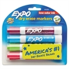 EXPO Low Odor Dry Erase Marker, Chisel Tip, Classic Colors Assorted, 4/Set