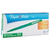 Point Guard Flair Needle Tip Stick Pen, Green Ink, 0.7mm, Dozen