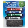 Mountable Whiteboard Caddy, With 4 Markers/Eraser, Set