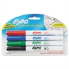 EXPO Low-Odor Dry-Erase Marker, Ultra Fine Point, Assorted, 4/Pack