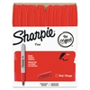 Sharpie Fine Point Permanent Marker, Red, 36/Pack