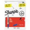 Sharpie Fine Point Permanent Marker, Blue, 36/Pack