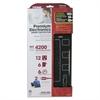 Premium Electronics Surge Protectors, 12 Outlets, 4200 Joules, Black