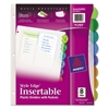 Style Edge Insertable Dividers with Pocket, Multicolor, 8-Tab, 11 1/4 x 9 1/4