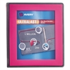 "Avery UltraLast View Binder w/1-Touch Slant Rings, 11 x 8 1/2, 1"" Cap, Pink"