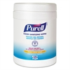 PURELL Sanitizing Hand Wipes, 6 x 6 3/4, White, 270 Wipes/Canister
