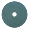 "Ultra High-Speed Floor Burnishing Pads 3100, 21"" Diameter, Aqua, 5/Carton"