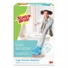 Scotch-Brite Disposable Toilet Scrubber Starter Kit, Handle w/ 7 Scrubbers, White/Blue, 6/CT