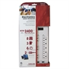 Electronics Surge Protectors, 8 Outlets, 2400 Joules, White