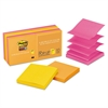 Post-it Pop-up 3 x 3 Note Refill, Rio de Janeiro, 90-Sheet, 10/Pack
