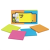 Full Adhesive Notes, 3 x 3, Assorted Rio de Janeiro Colors, 25-Sheet, 12/Pack