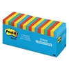 Post-it Original Pads in Jaipur Colors Cabinet Pack, 3 x 3, 100-Sheet, 18/Pack