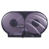 "San Jamar Twin 9"" JBT Toilet Tissue Dispenser, Oceans, 19 x 5 1/4 x 12, Black Pearl"