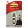 Command Adhesive Mount Metal Hook, Medium, Brushed Nickel Finish, 1 Hook & 2 Strips/Pack
