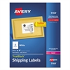 Shipping Labels with TrueBlock Technology, Laser, 3 1/3 x 4, White, 600/Box