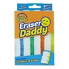 "Eraser Daddy Scrubber, Assorted, 5 1/4"" x 3.313"" x 2 3/4"", 4/Pack"